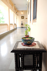 Hotel Arya Niwas Jaipur with the old world charms and greenery all around and beautifully decorated corridors