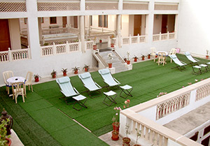 A lazy day spent on the terrace garden at Jaipur Hotel Arya Niwas is a favourite with guests